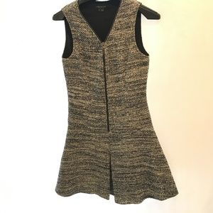 Theory Size 2 Fit & Flare Textured Dress